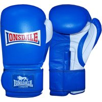 Lonsdale Pro Safe Spar Hook and Loop Training Gloves BlueWhite 12oz